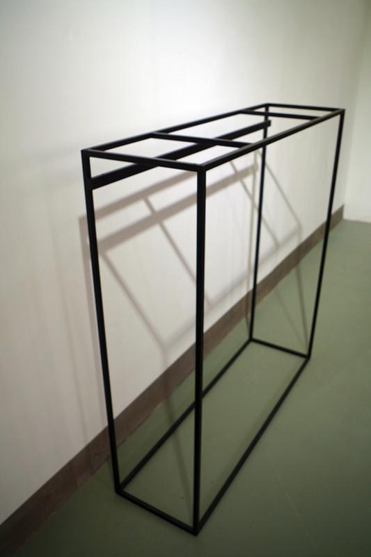 服裝展示架高架牆上展示架黑色 1