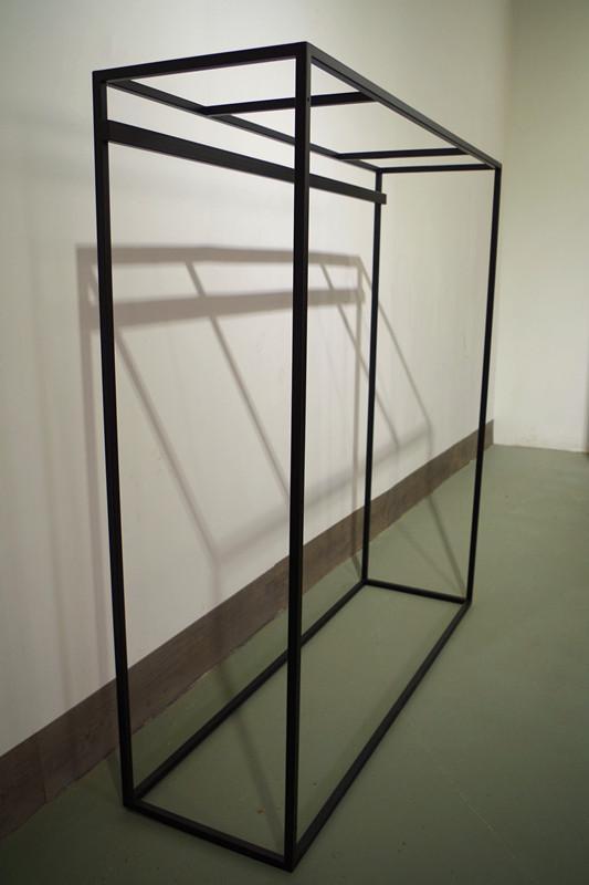 服裝展示架高架牆上展示架黑色 4