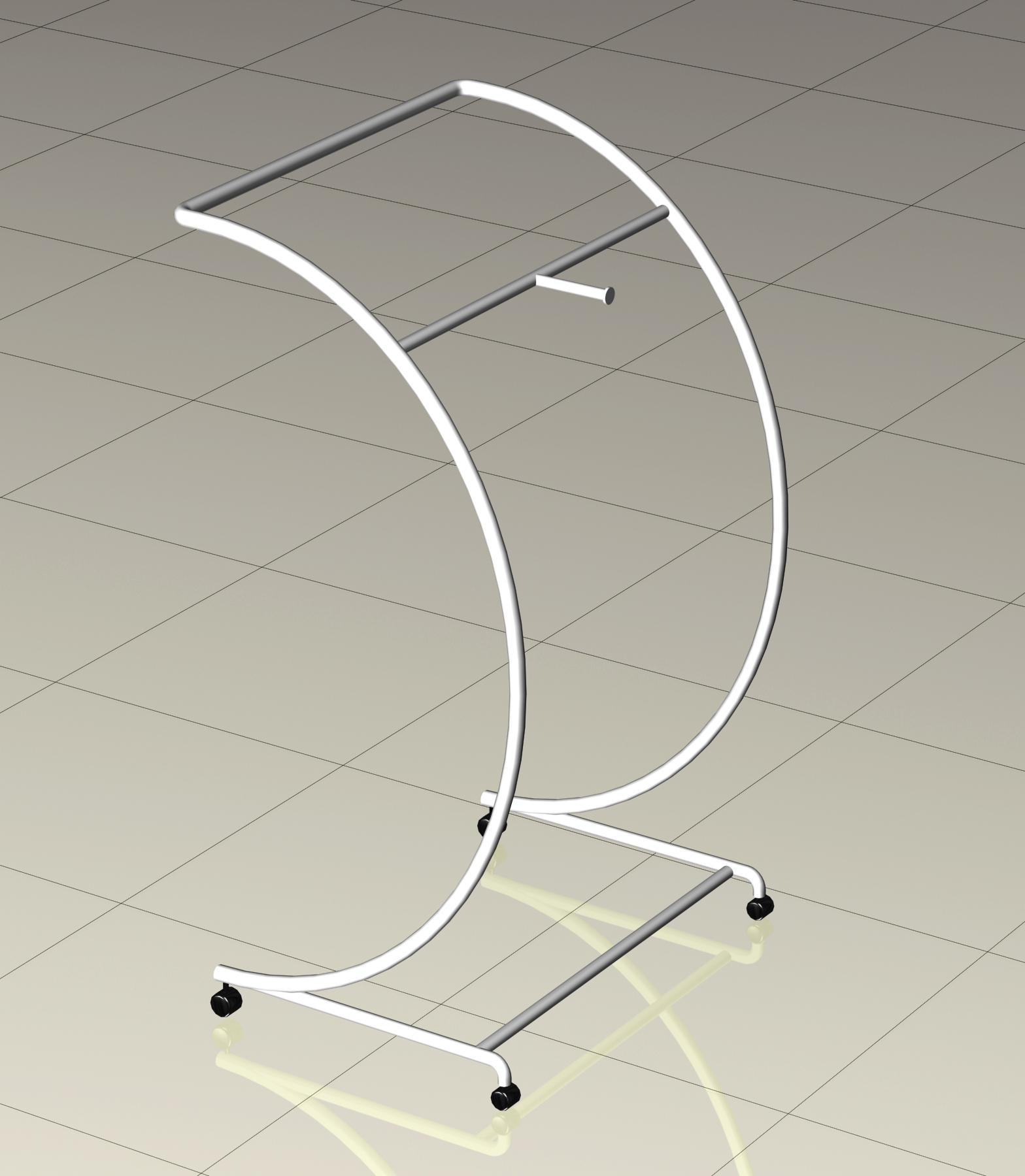 服裝展示架中島架鐵架弧形 2