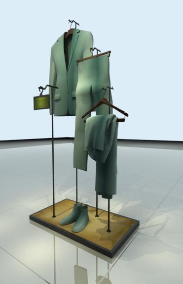 服裝展示架中島架鐵架 3