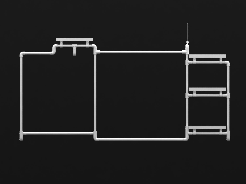服裝展示架中島架鐵架 2