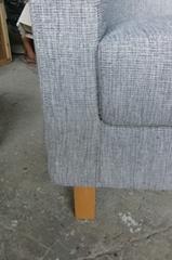 休閑椅木結構椅子布藝沙發椅