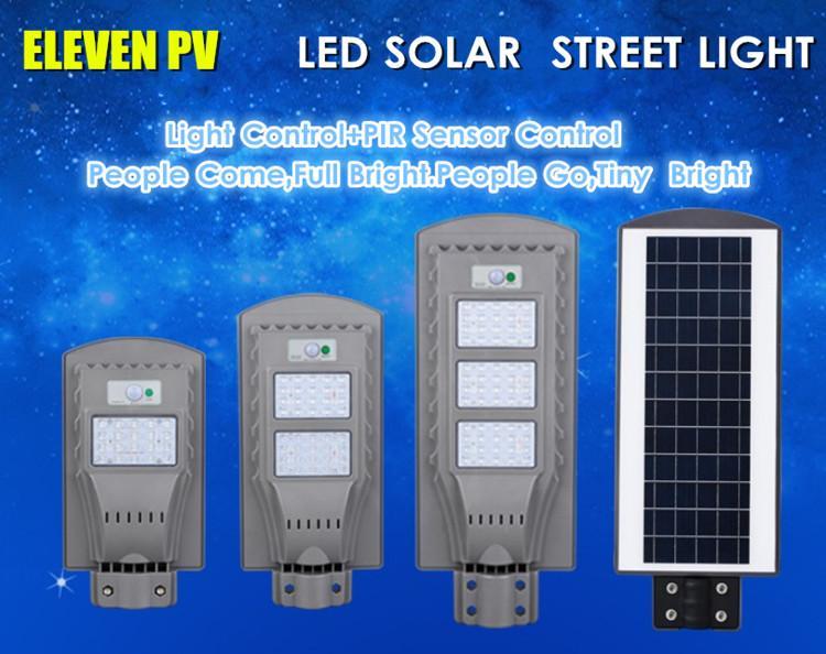20W40W 60W Cheap ABS solar motion Sensor all in one led solar street light   4