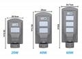 20W40W 60W Cheap ABS solar motion Sensor all in one led solar street light   5