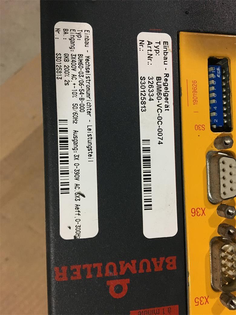 鲍米勒伺服驱动器BUS6VX28 BUS6-VC-A0-0065 5