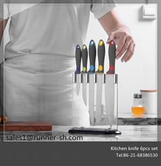 2018 New Design Kitchen Knife 5pcs Set with Stand