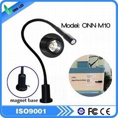 ONN-M10A IP65 gooseneck led work light with fixed base