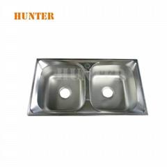 New Modern Astracast Stainless Steel Kitchen Sink 1.5 Bowl & Tap