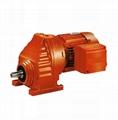 Single helical gear reducer