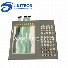 Big size membrane switch with aluminum plate backing used on industry control ma