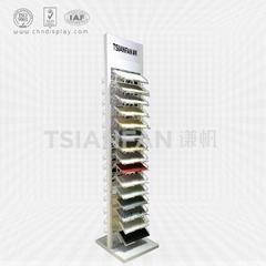 White Quartz Stone Sample Display Stand