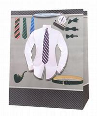 Men's shirt designs paper gift bags  ,shopping bags