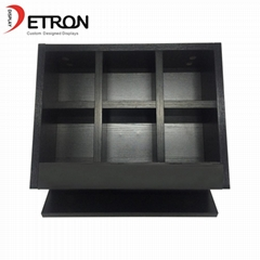 China factory OEM customized wooden countertop chocolate product display stand