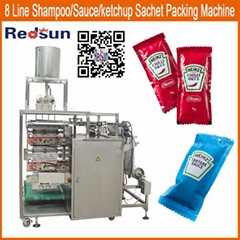 high speed ketchup tomato paste sauce sausage sachet packing packaging machine