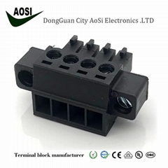 TJ3.81W/F连接器 3.81间距 3.5间距公母对插工业插头接线端子