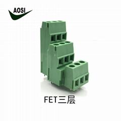 3层 5.08间距 工控接线端子 连接器