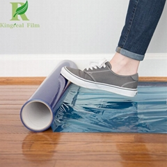 0.03-0.2mm Clear Blue Self Adhesive Hardwood Floor Protection Film