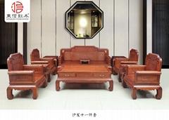 红木家具花梨木国色天香沙发