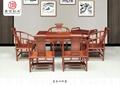 红木家具花梨木国色天香沙发 2