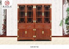 红木家具花梨木锦上添花书柜