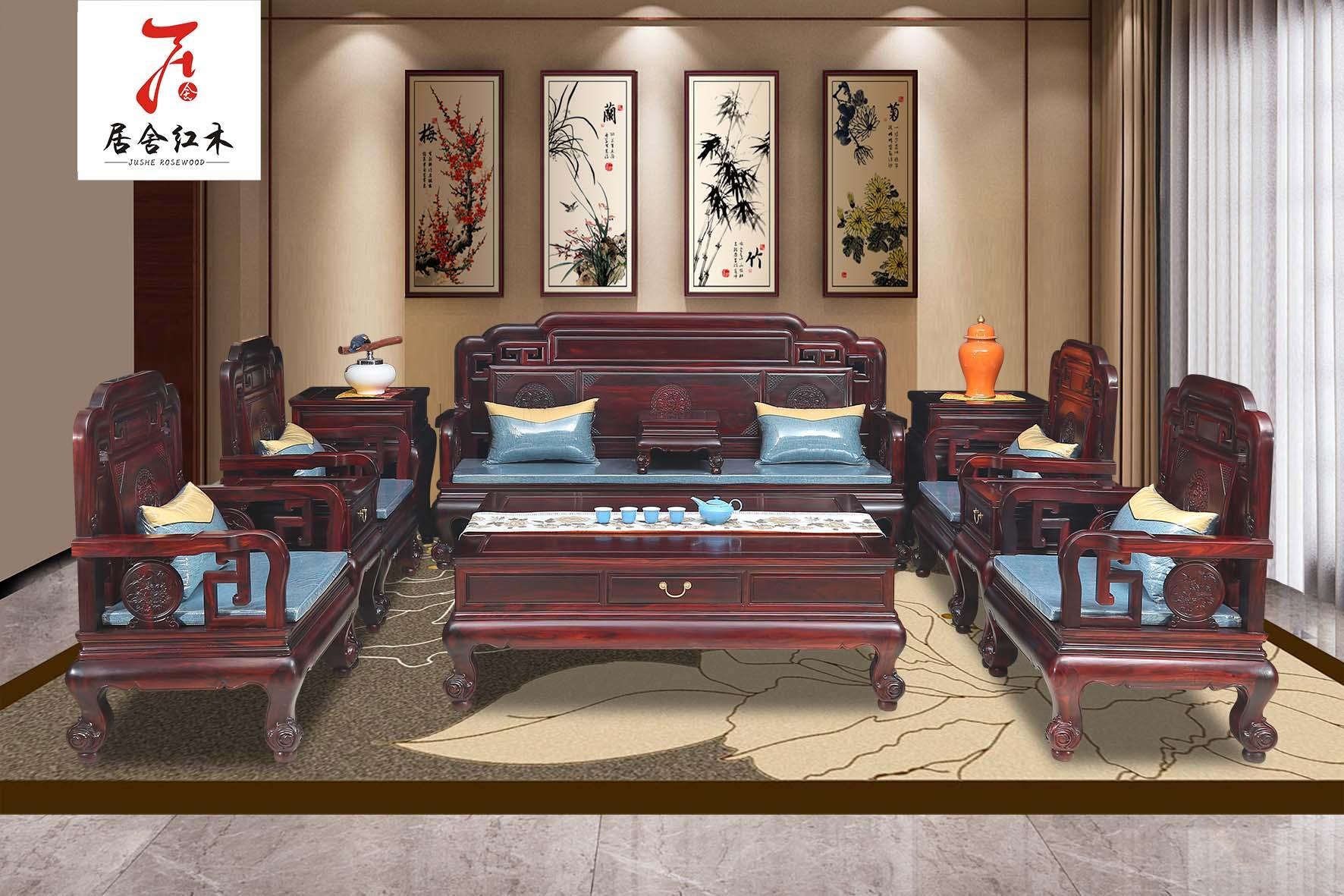 东阳红木家具厂明韵沙发 1
