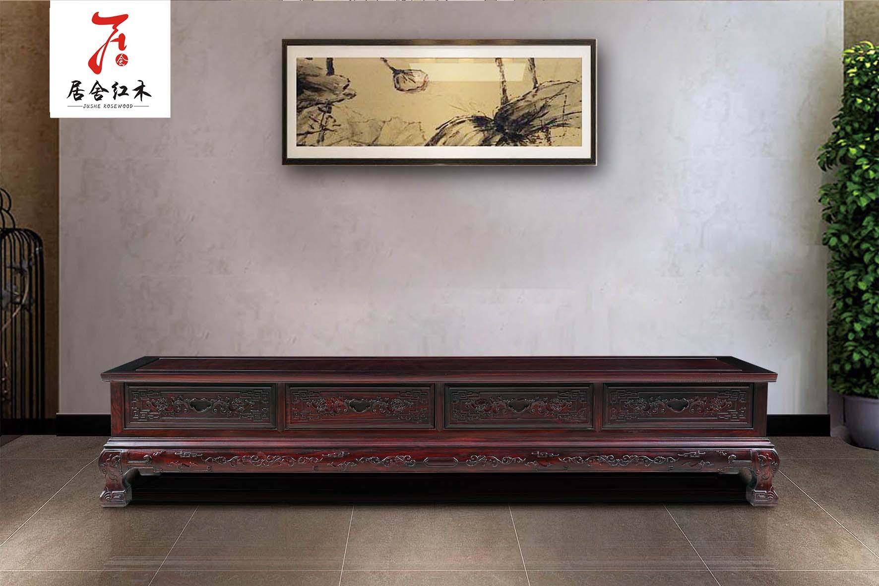 黑酸枝家具红木电视柜 3