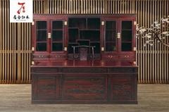 红木书房-印尼黑酸枝家具
