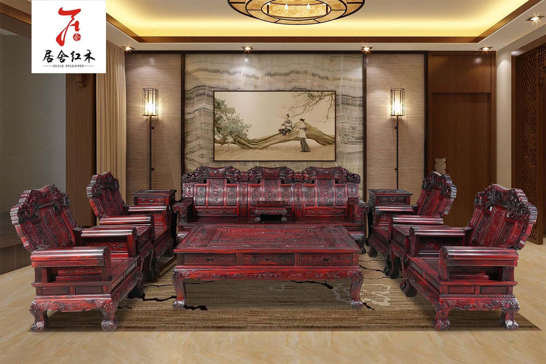 红木罗汉床国标红木家具 5