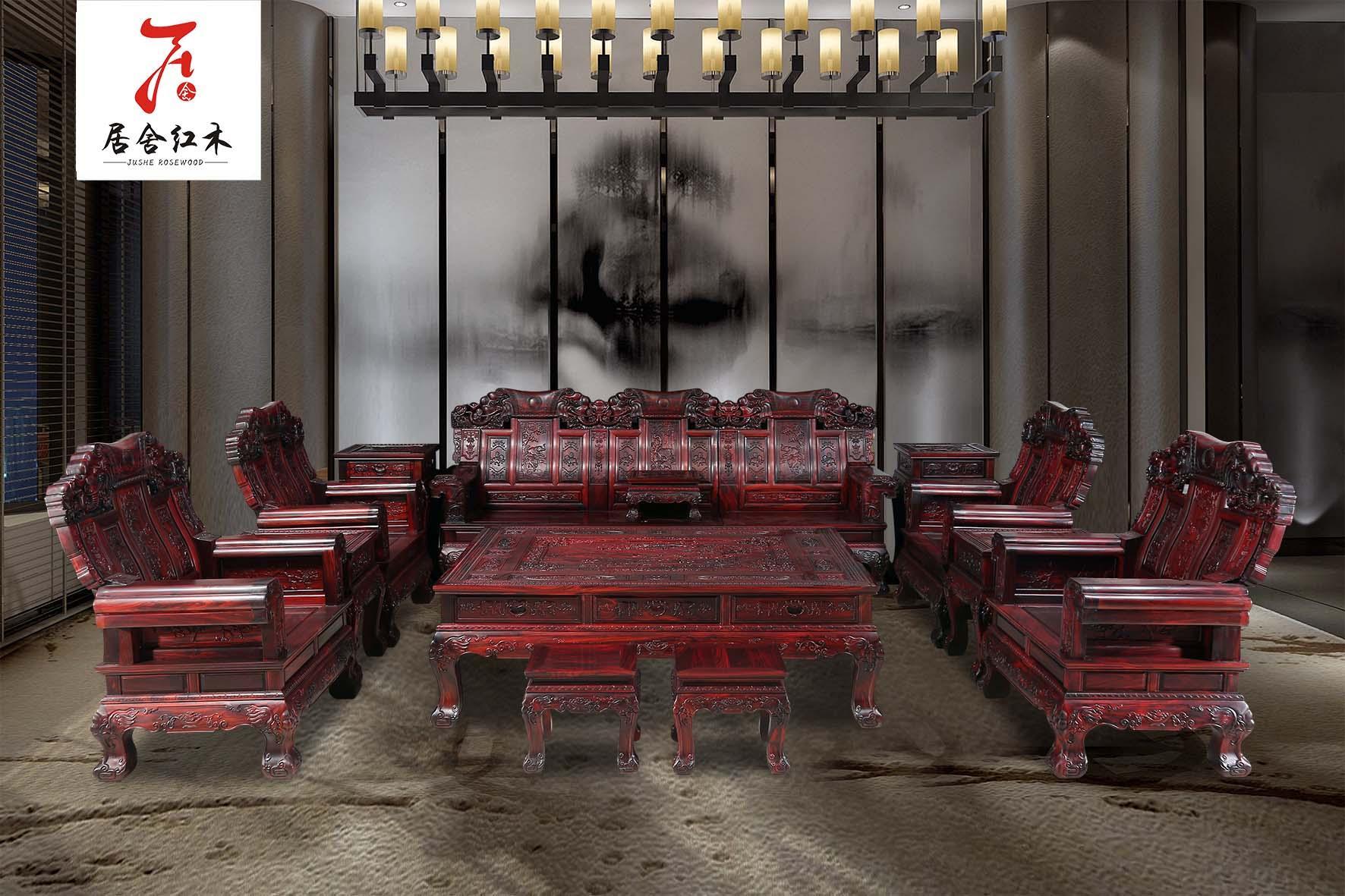 红木罗汉床国标红木家具 1