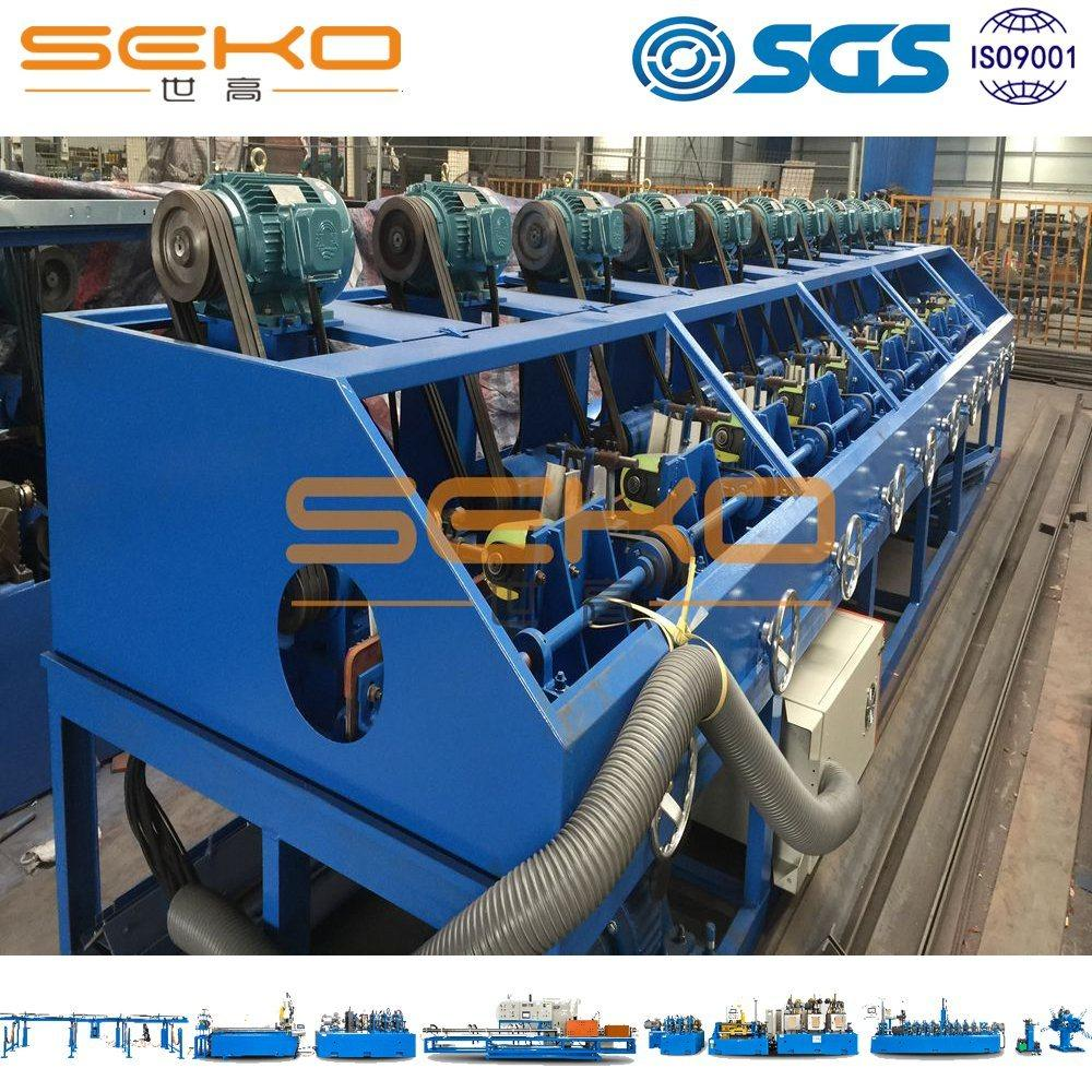Straight Ss Square Pipe Polishing Machine with Flap Wheel 1