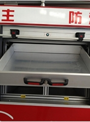 Fire Fighting Truck Accessories Aluminum Drawer