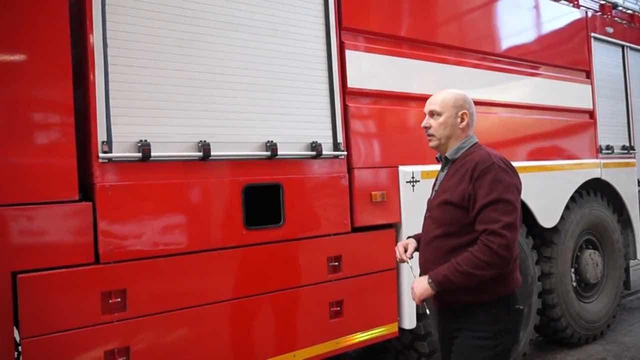 Roll up Door Firefighting Emergency Truck Special Vehicles Roller Shutter 2