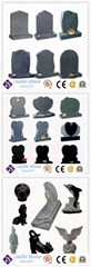 black granite stone for headstone and monument from china manufacturer