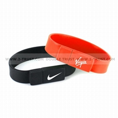 Newest Silicone Bracelet U Disk USB Flash Drive