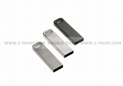 Metal Mini USB Flash Drives with Key chain