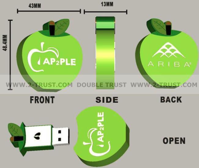 Customized any shape USB flash drive