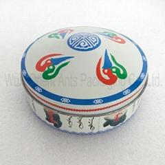 Mongolian Yurts Round Tin Box