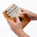 INITER 17 Key Kalimba Mbira Sanza Thumb Piano Solid Finger Piano and Tune Hammer