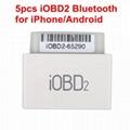 5pcs iOBD2 Bluetooth OBD2 EOBD Auto