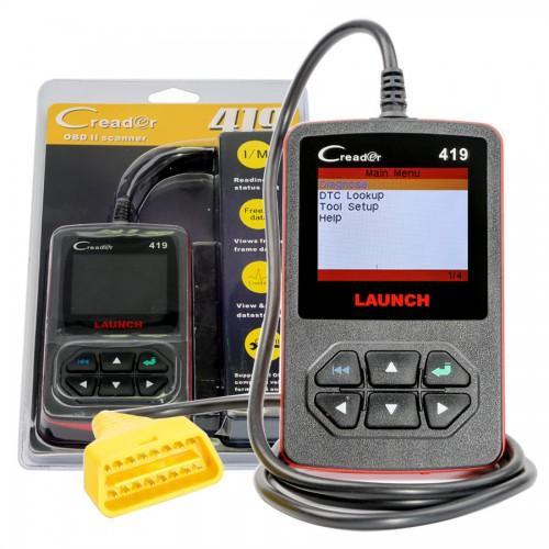Launch CReader 419 DIY Scanner OBDII/EOBD Auto Diagnostic Scan Tool Code Reader 9