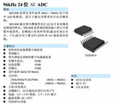 瑞盟科技ADC模拟转数字MS1808