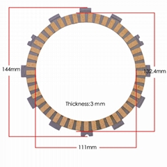 GN250 RGV125 motorcycle fiber clutch plate , friction disc plate