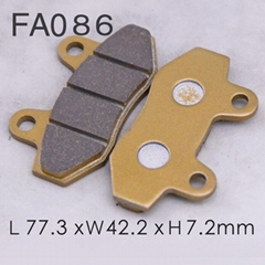 Chinese high quality motorcycle brake system FA086 brake pad material