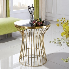 modern coffee table steel coffee table with tempered glass top metal end table