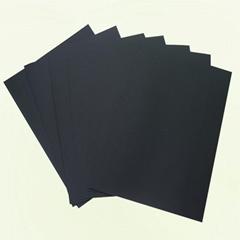 大朗造紙廠家供應雙面透心黑卡紙黑度好挺度佳