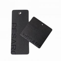 东莞厂家供应可做服装吊牌透心黑卡纸