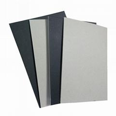 造纸厂批发供应灰底单面黑卡纸裱合贴面纸
