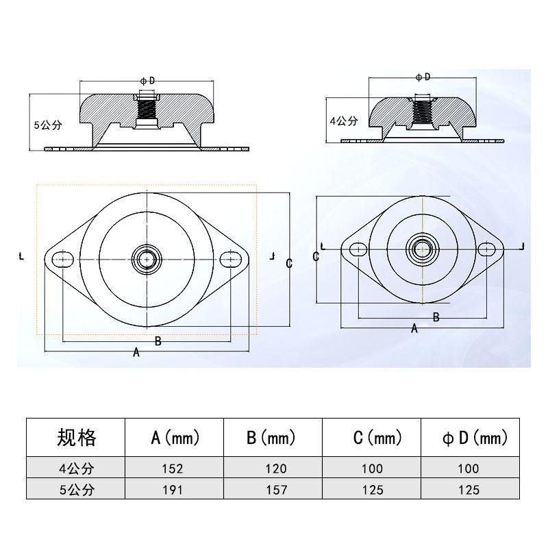 柴油发电机组减震垫 2