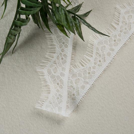 "Off White 100% Nylon Eyelash 1.58"" Lace Trimming for Lady's Sexy Underwears 2"