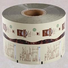 供應食品彩印包裝膜咖啡鋁箔包裝膜